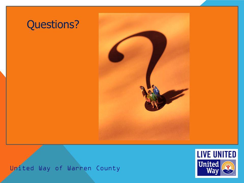 United Way of Warren County Questions?