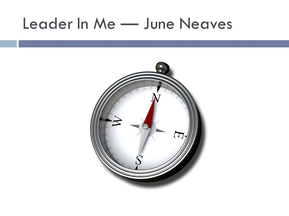 Leader In Me — June Neaves