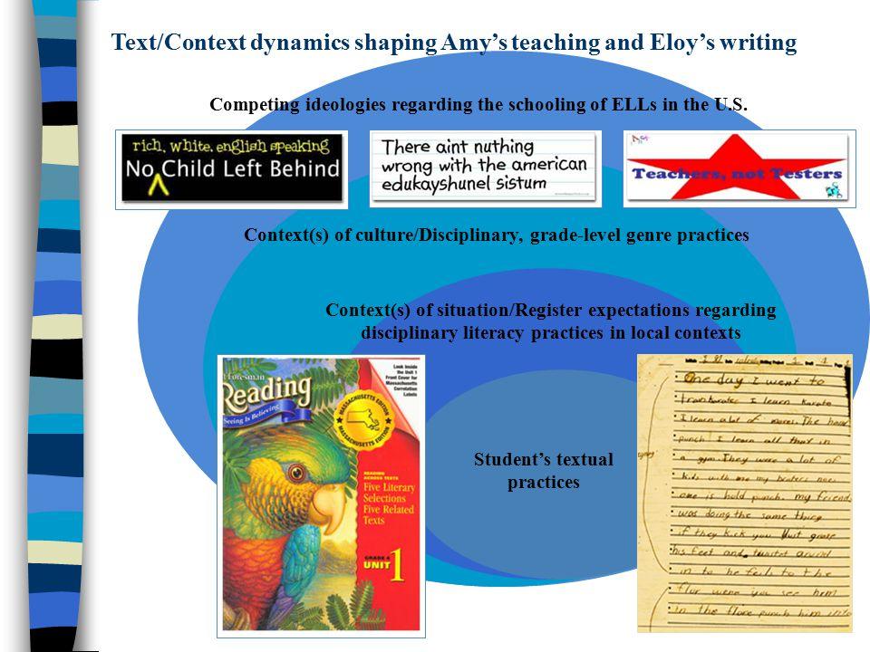 Competing ideologies regarding the schooling of ELLs in the U.S.