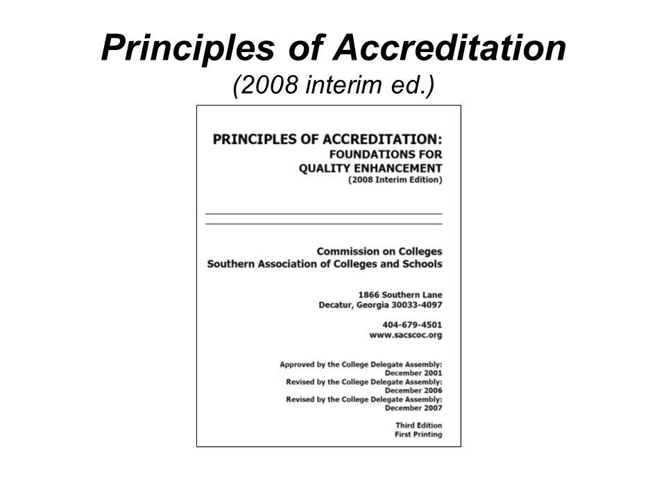 Principles of Accreditation (2008 interim ed.)