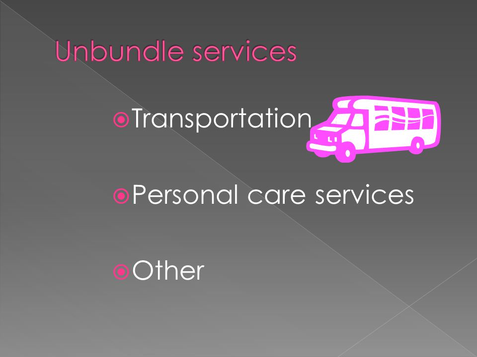  Transportation  Personal care services  Other