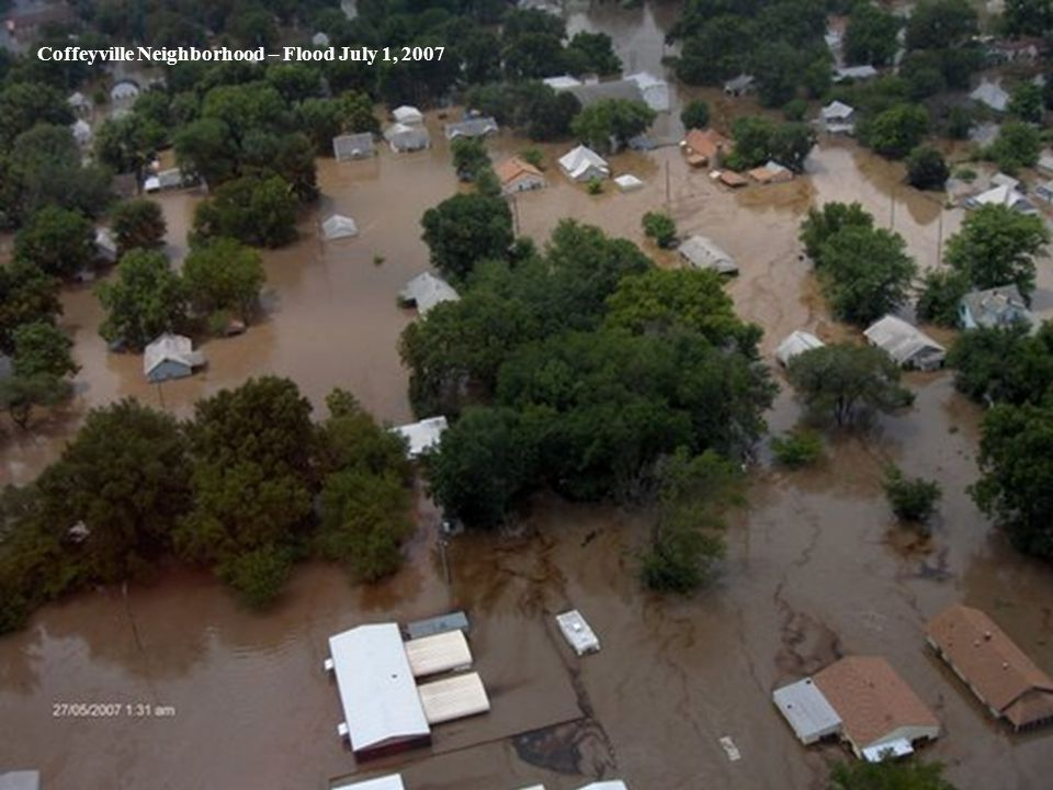 Coffeyville Neighborhood – Flood July 1, 2007