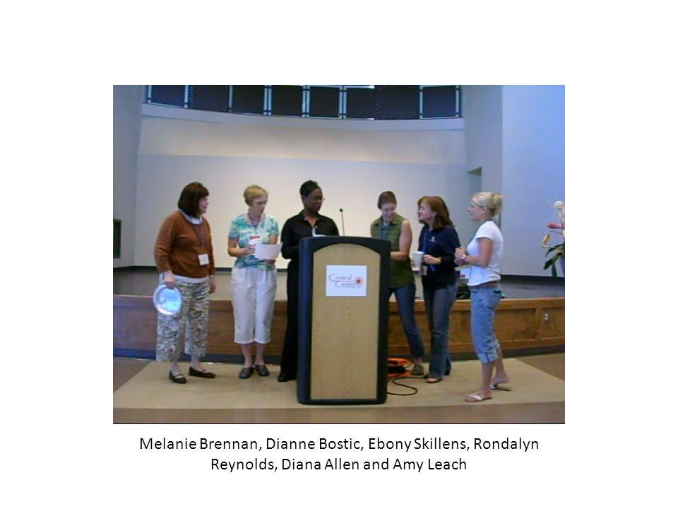 Melanie Brennan, Dianne Bostic, Ebony Skillens, Rondalyn Reynolds, Diana Allen and Amy Leach