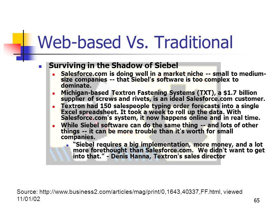 65 Web-based Vs.