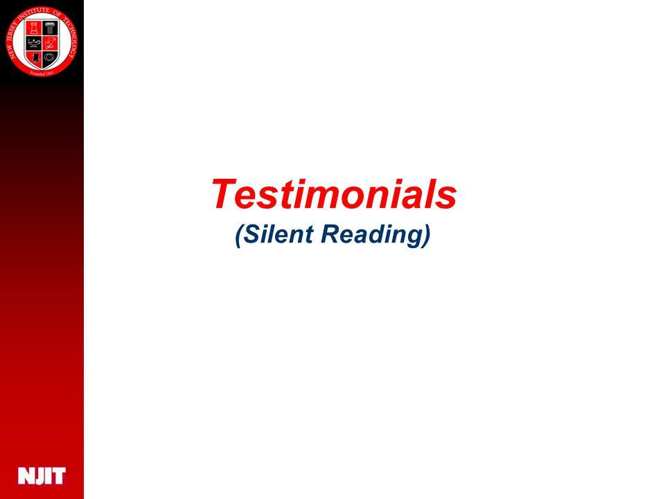 Testimonials (Silent Reading)