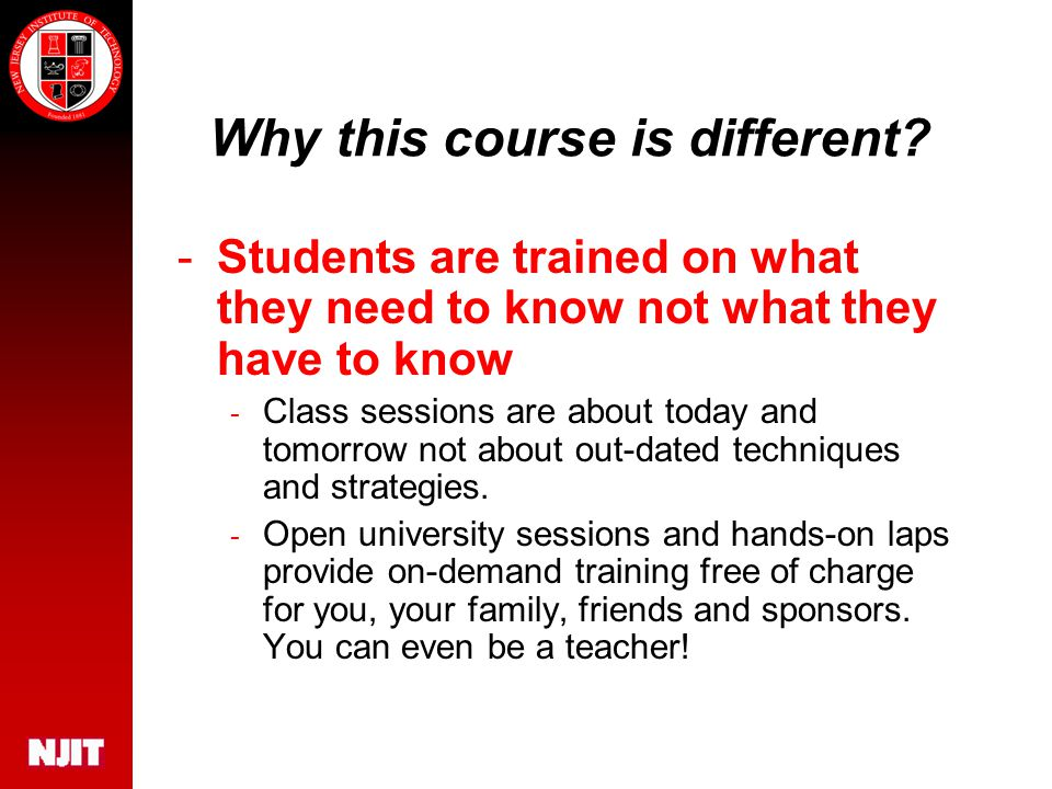 Why this course is different.