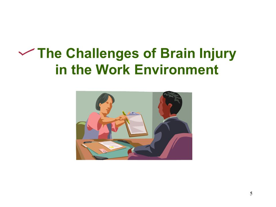 5 The Challenges of Brain Injury in the Work Environment