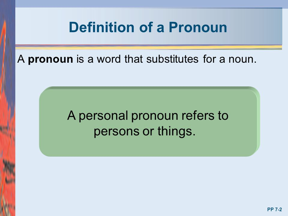 Cases of Pronouns Pronouns have three cases: 1.Nominative (Subjective) 2.Objective 3.Possessive The case depends on the function of the pronoun in the sentence.
