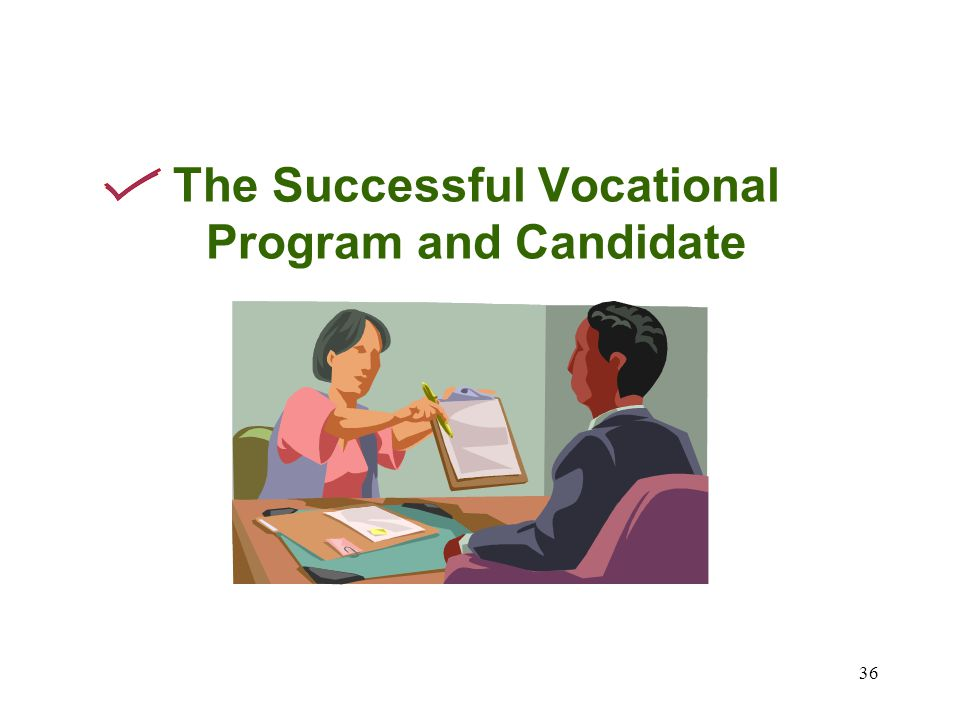 36 The Successful Vocational Program and Candidate