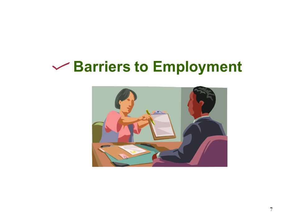 7 Barriers to Employment