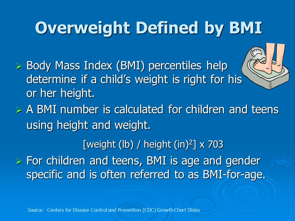 The BMI number is then plotted on CDC's BMI- percentile-for-age growth charts (for either girls or boys) to obtain a percentile ranking.