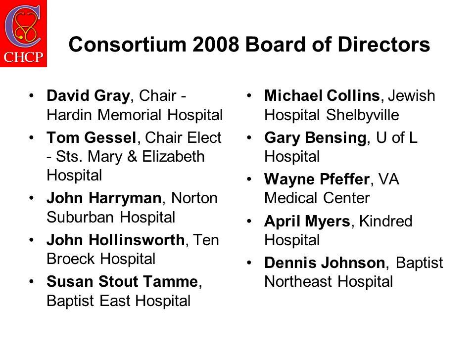 Consortium Leadership 2008 Board - David Gray - Hardin Memorial Hospital CNO/Dean Committee –Heather Cote – Norton Suburban Hospital Recruitment & Retention Committee - Tiff Howell, Norton Healthcare and Sean Davenport, Ten Broeck Hospital