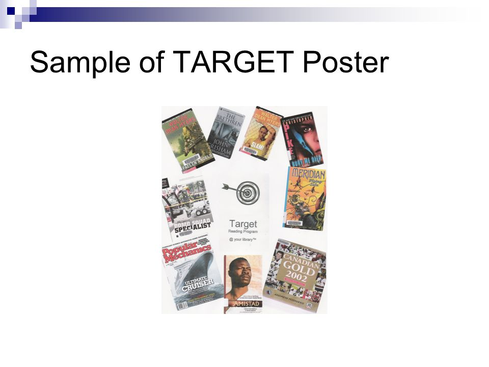Sample of TARGET Poster