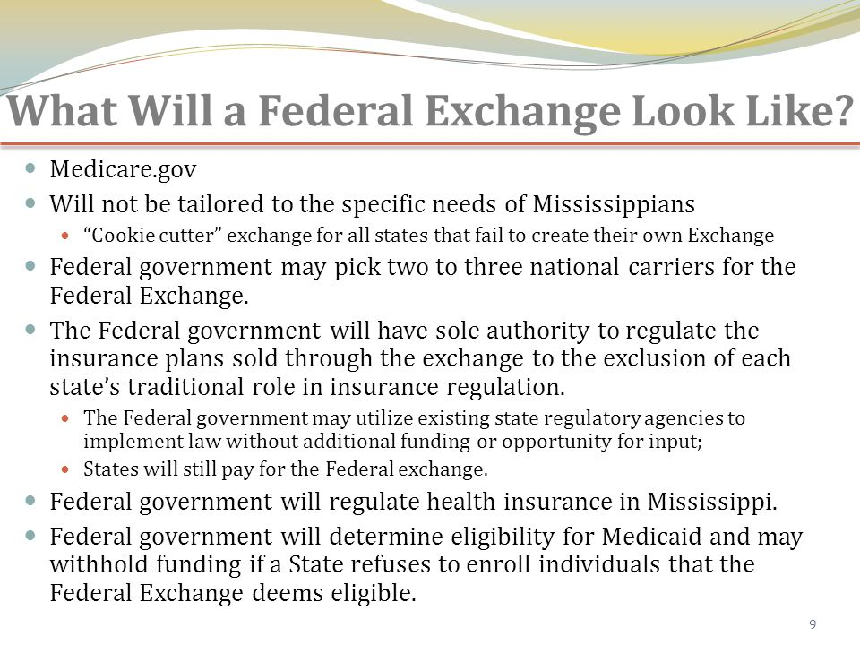 What Will a Federal Exchange Look Like.