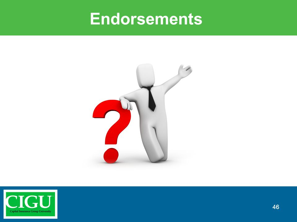Endorsements 46