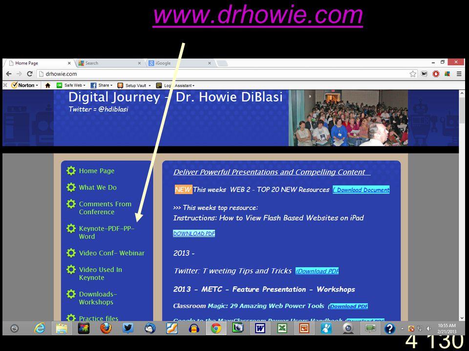4 130 www.drhowie.com