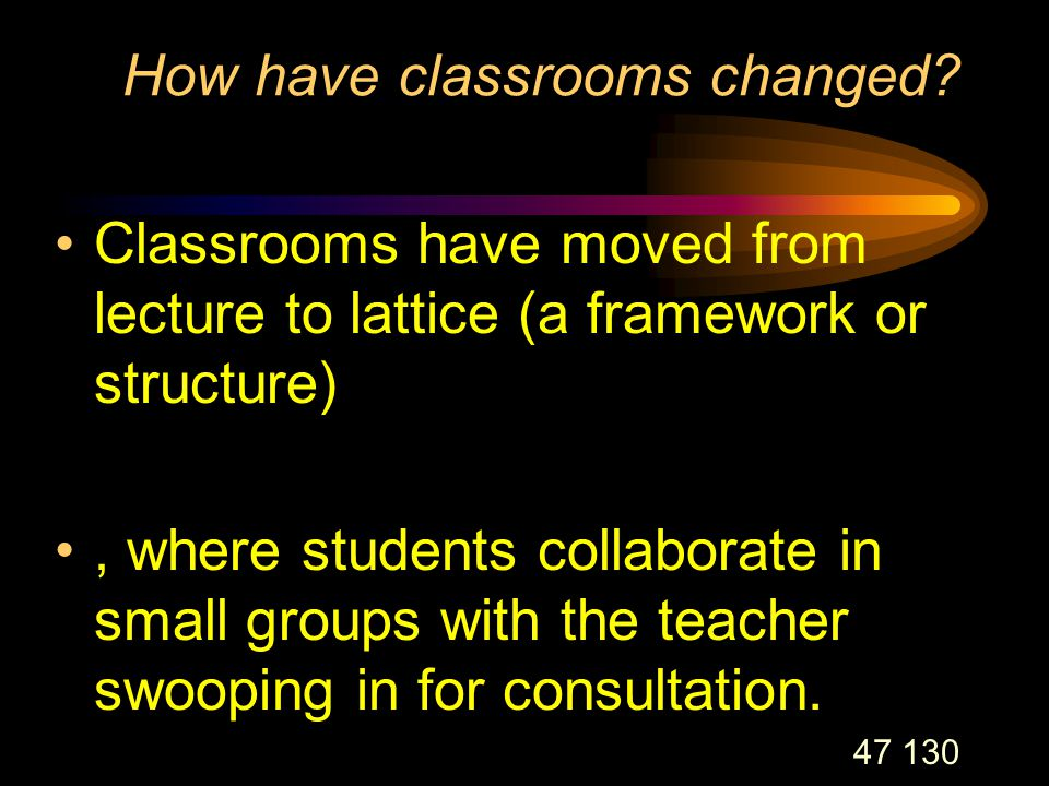 47 130 How have classrooms changed.