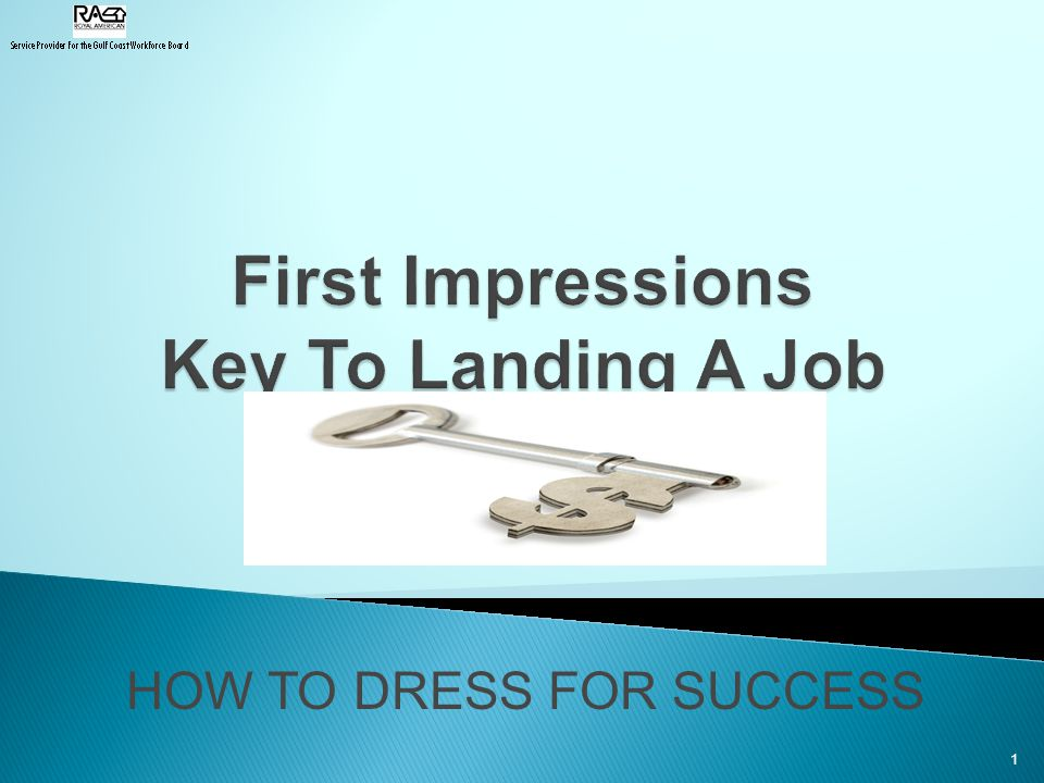 HOW TO DRESS FOR SUCCESS 1
