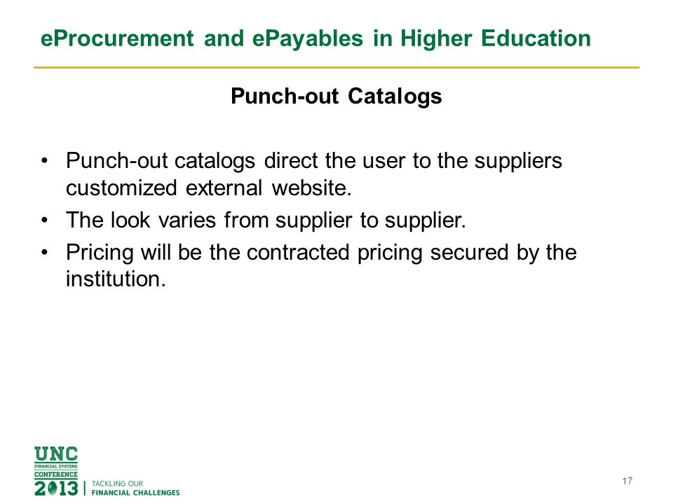 eProcurement and ePayables in Higher Education 18