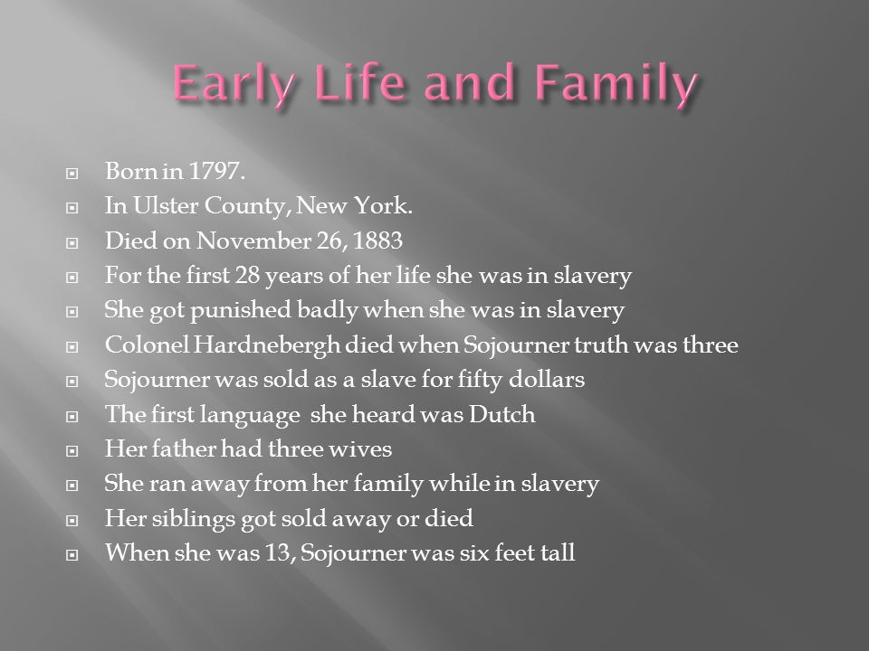  Born in 1797.  In Ulster County, New York.