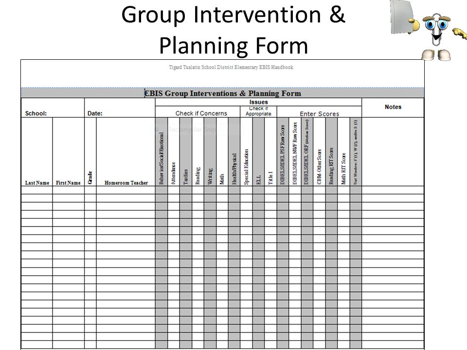 Group Intervention & Planning Form