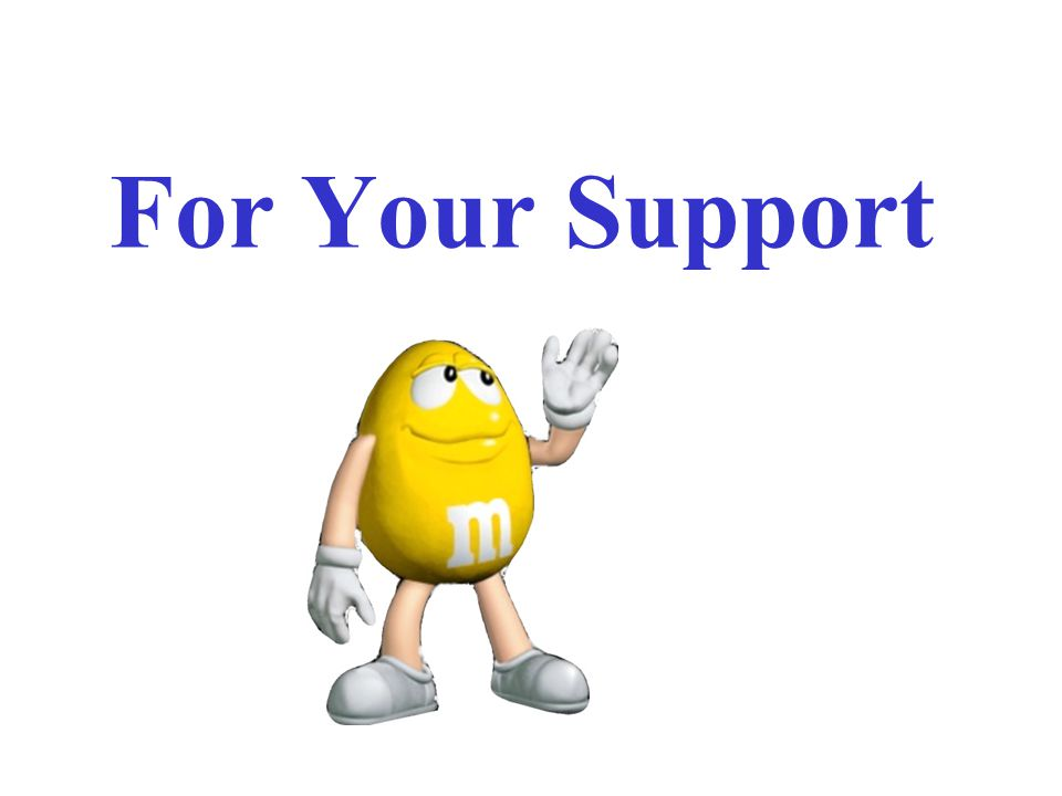 For Your Support