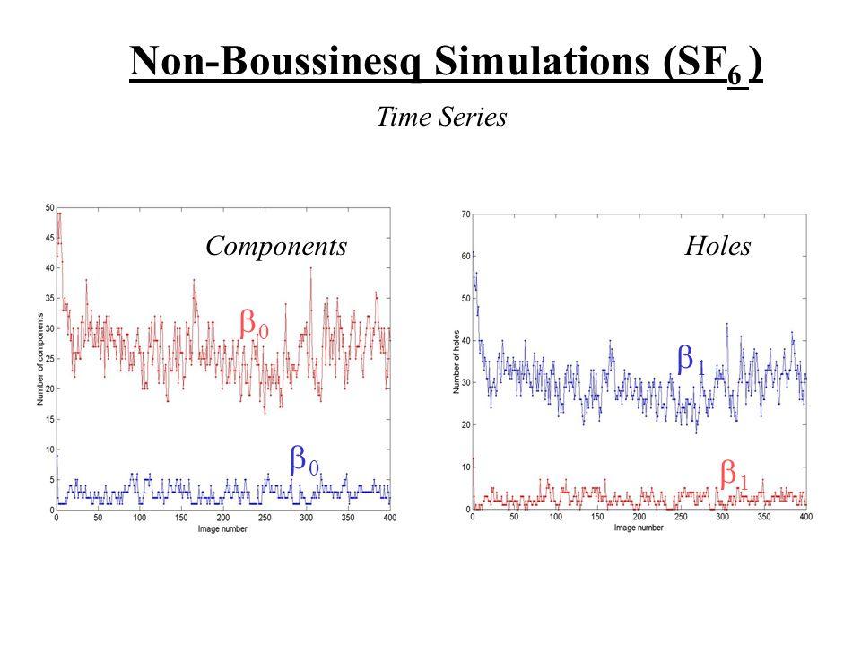 Non-Boussinesq Simulations (SF 6 )     ComponentsHoles Time Series