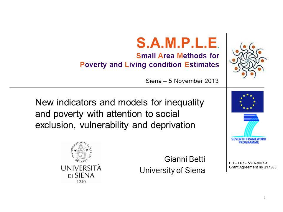 12 Task 1.1. Some empirical results - 1 Figure 1. EU: Net equivalent income – NUTS1 regions