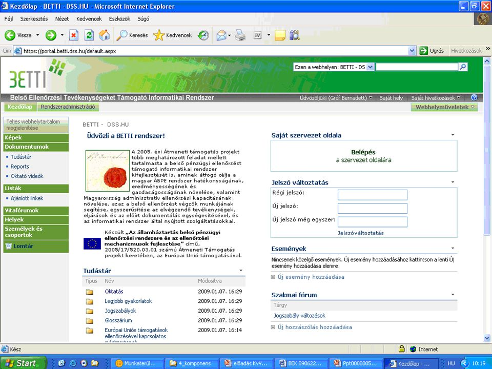 7 Technical details the system framework based on Microsoft Office SharePoint Server 2007 flexible, compatible, customisable it is not a static data modell 'web services' provide for querys 'offline' mode: for detached organisations