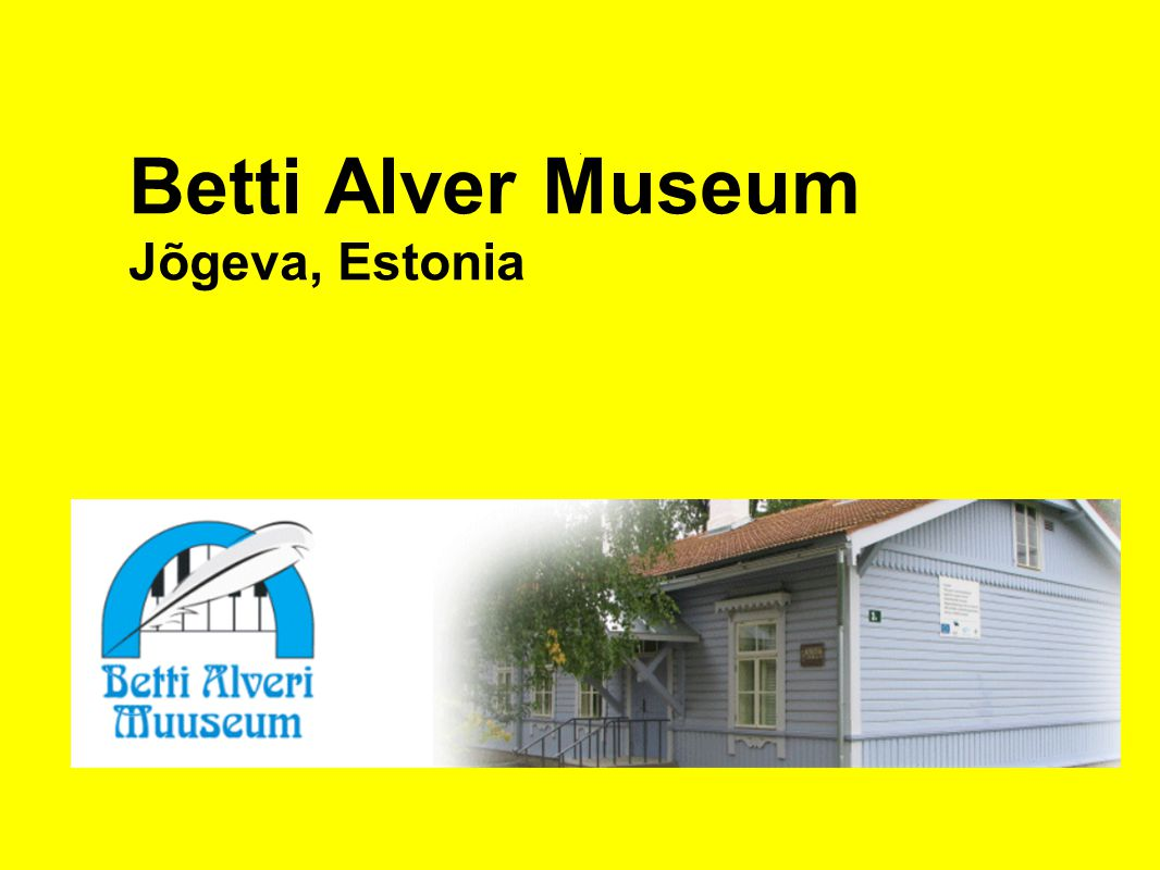. Betti Alver Museum Jõgeva, Estonia