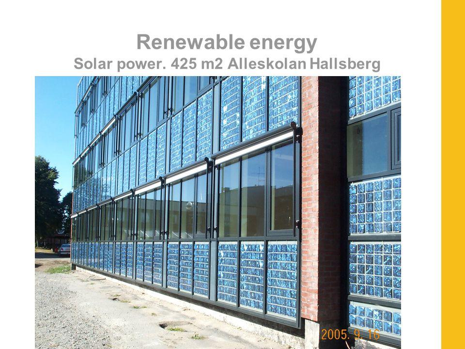 Renewable energy Solar power. 425 m2 Alleskolan Hallsberg