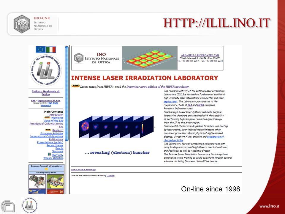 HTTP://ILIL.INO.IT On-line since 1998