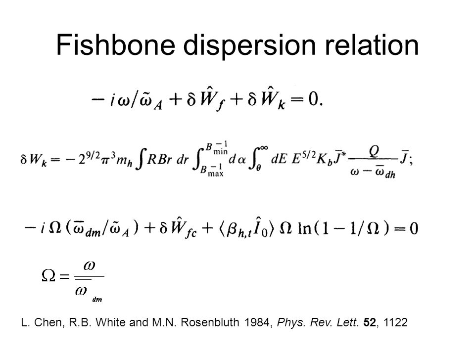 Fishbone dispersion relation L. Chen, R.B. White and M.N.