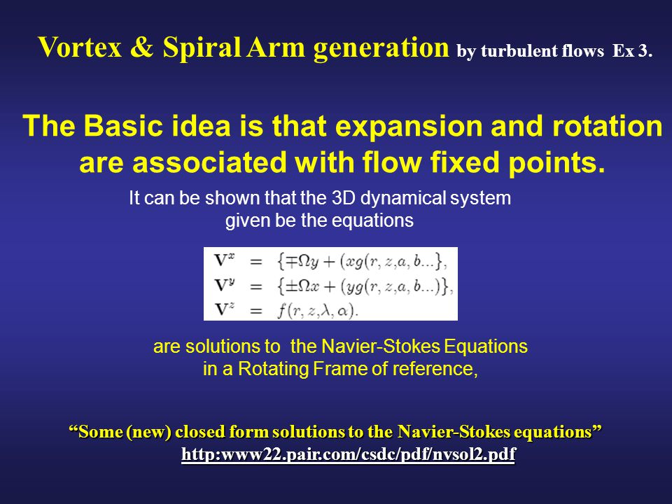 The Basic idea is that expansion and rotation are associated with flow fixed points.