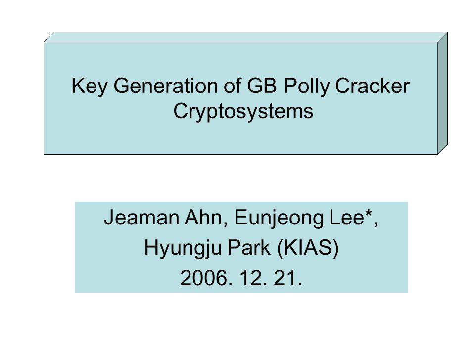 Jeaman Ahn, Eunjeong Lee*, Hyungju Park (KIAS) 2006.