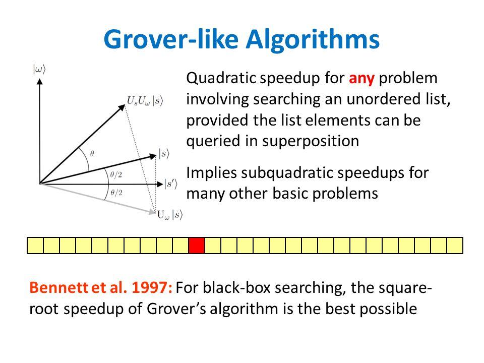 Grover-like Algorithms Bennett et al.
