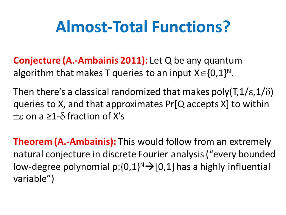 Almost-Total Functions.