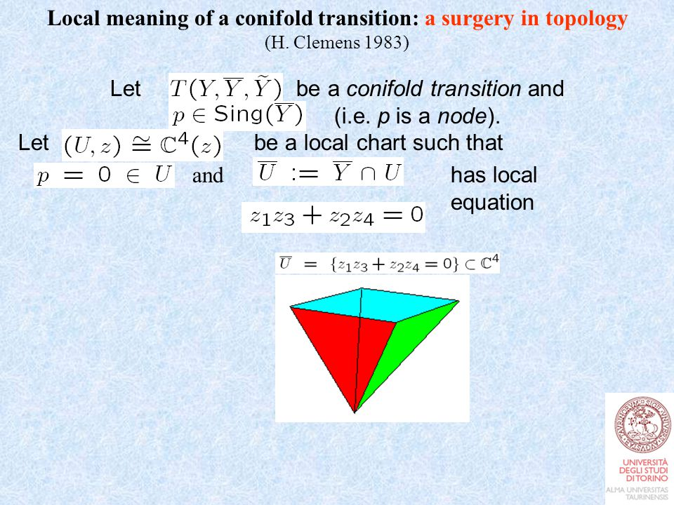 Local meaning of a conifold transition: a surgery in topology (H.