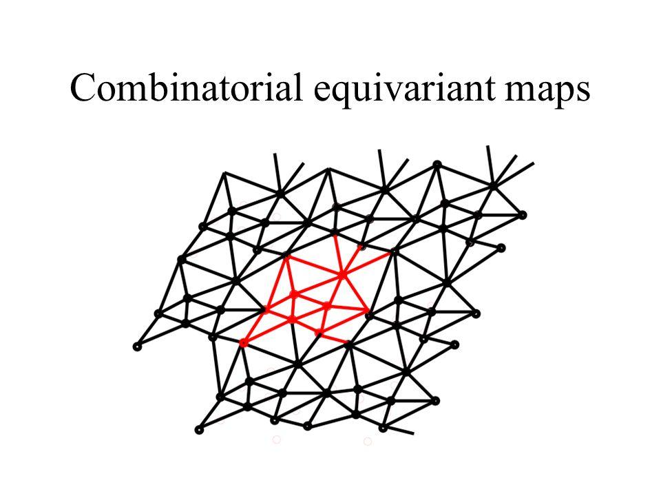Combinatorial equivariant maps