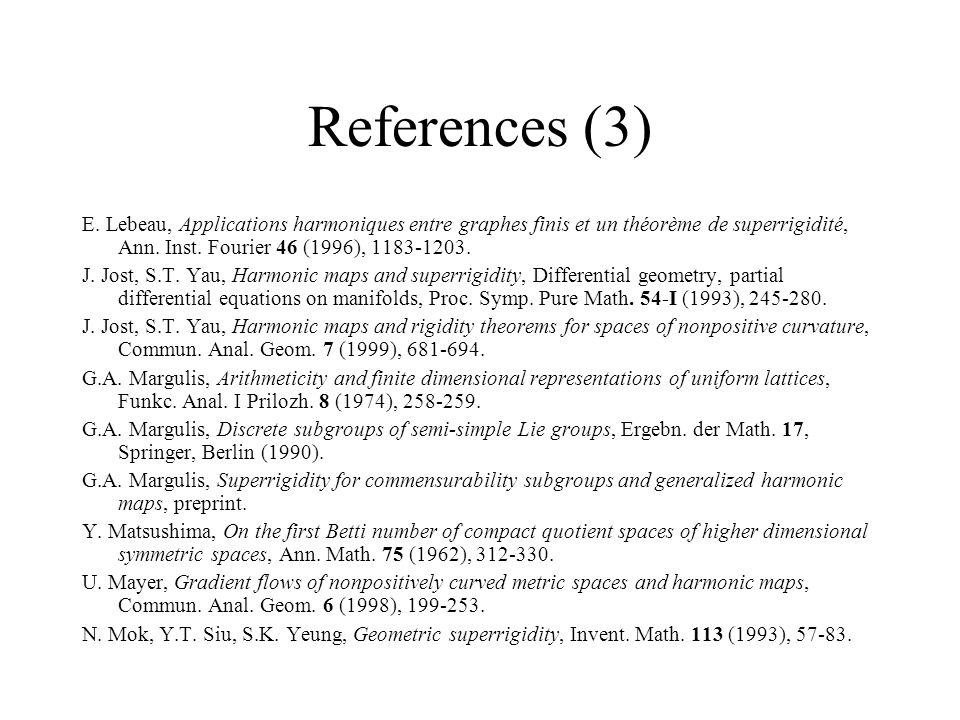 References (3) E.