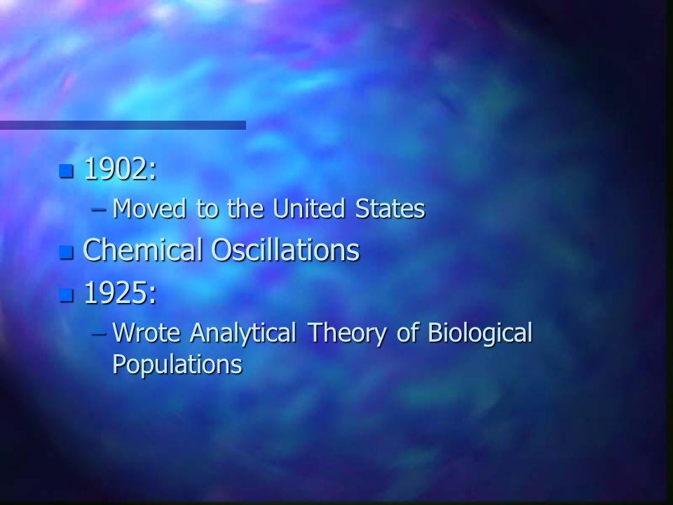 n Chemist n Demographer n Ecologist n Mathematician