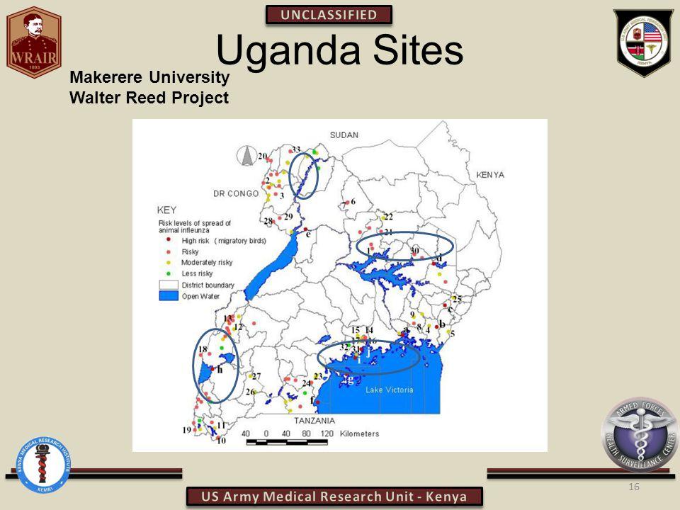 Uganda Sites 16 Makerere University Walter Reed Project