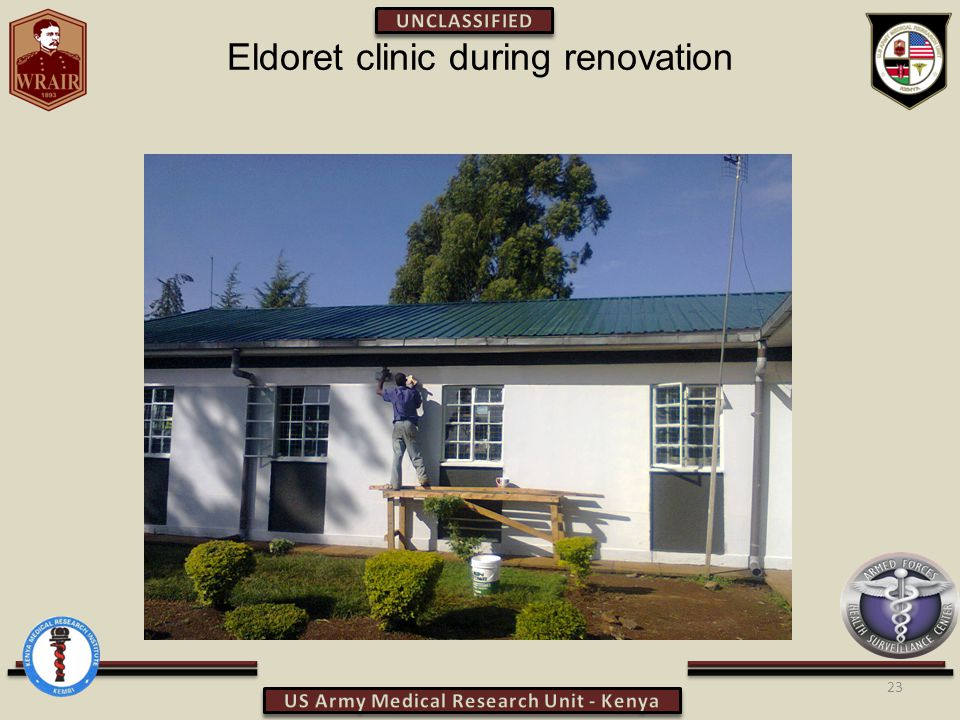Eldoret clinic during renovation 23