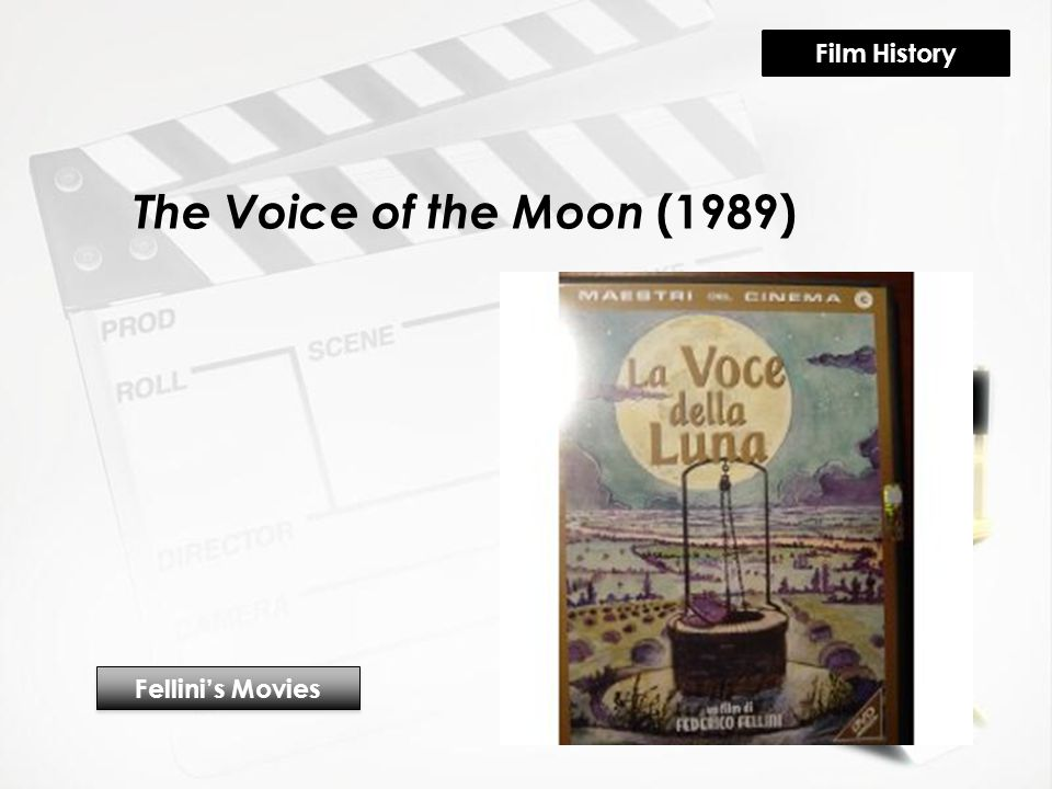 The Voice of the Moon (1989) Fellini's Movies Film History