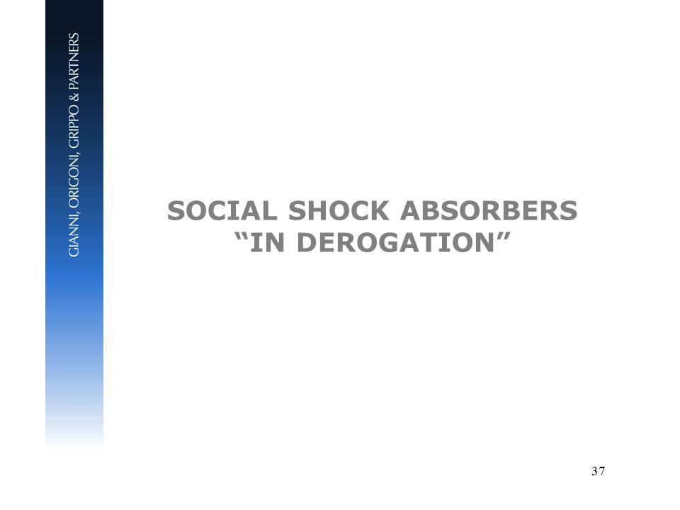 37 SOCIAL SHOCK ABSORBERS IN DEROGATION