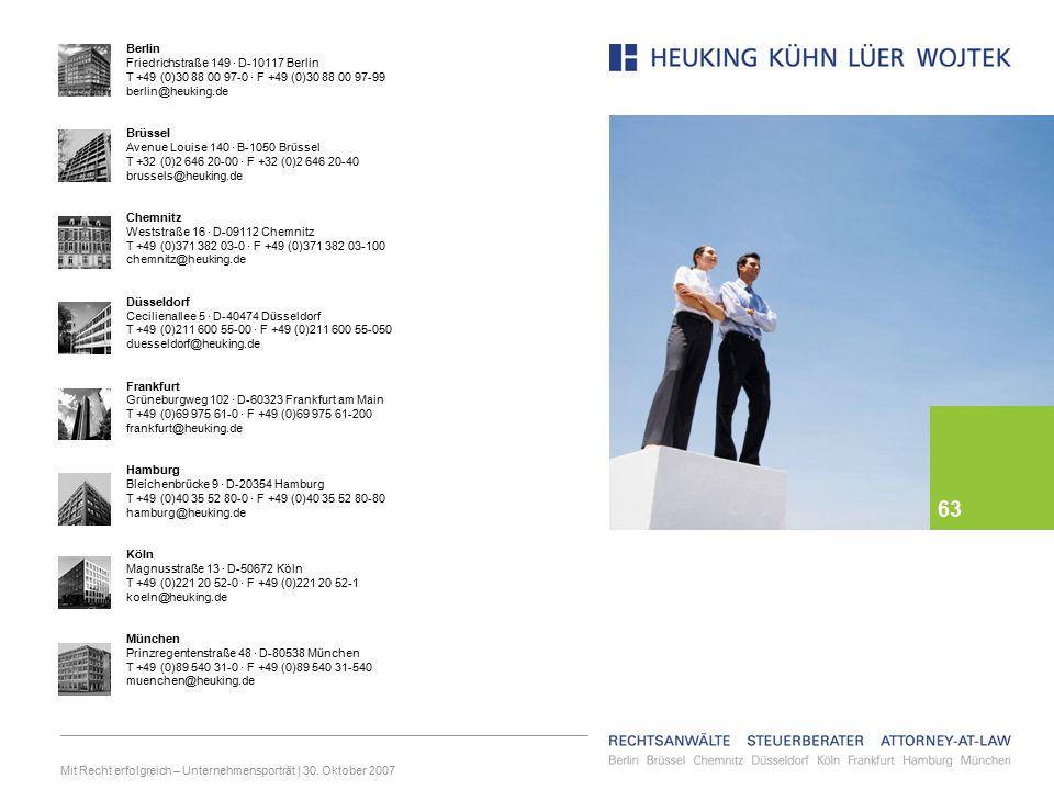 Mit Recht erfolgreich – Unternehmensporträt | 30.