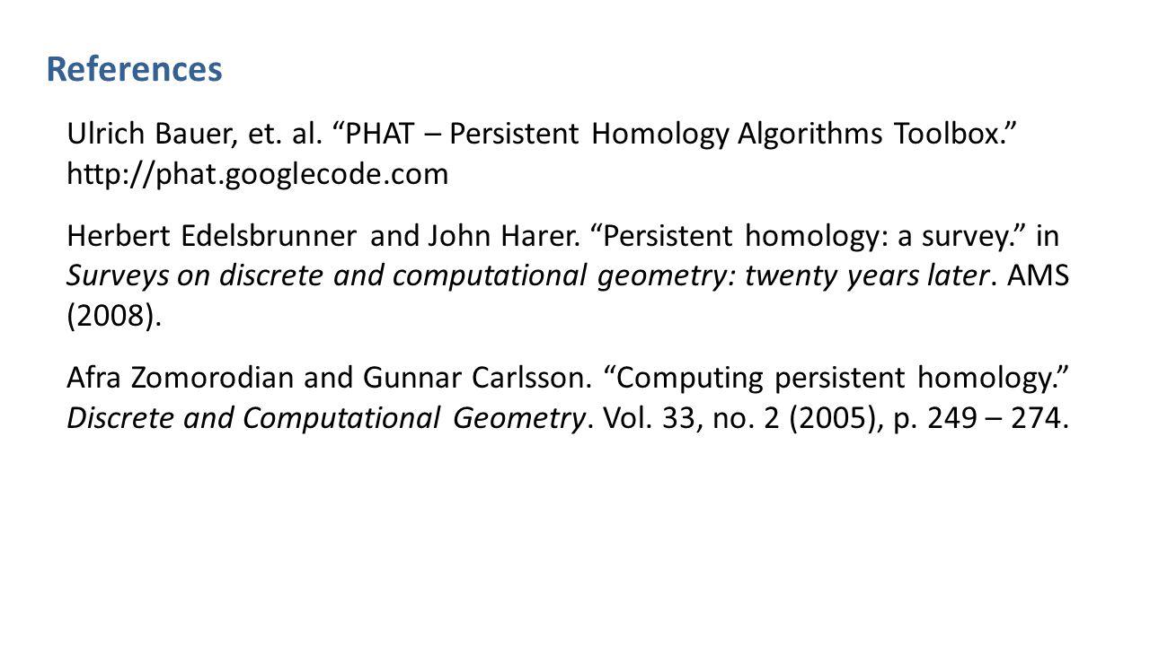 References Ulrich Bauer, et.al.