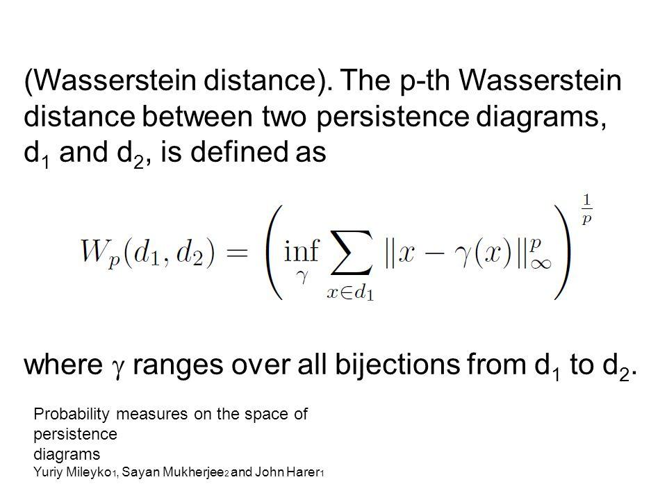 (Wasserstein distance).