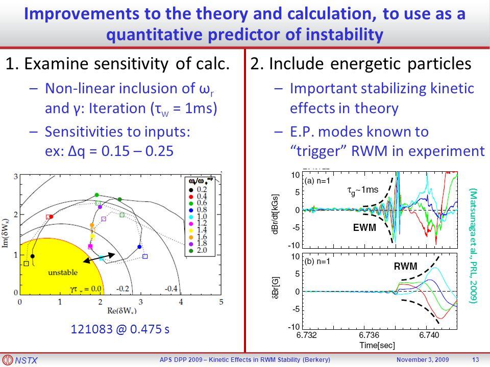 NSTX APS DPP 2009 – Kinetic Effects in RWM Stability (Berkery)November 3, 2009 1.