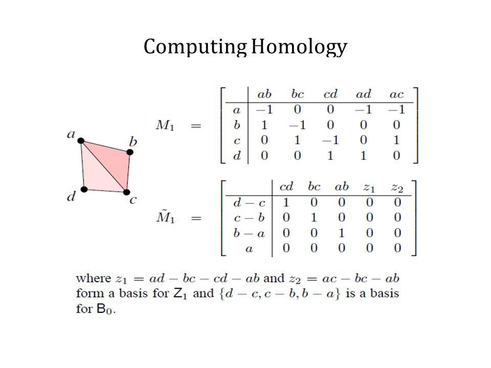 Computing Homology For large no.